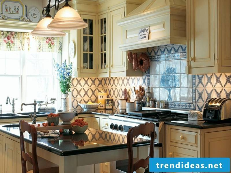 bright pastel colors in the kitchen