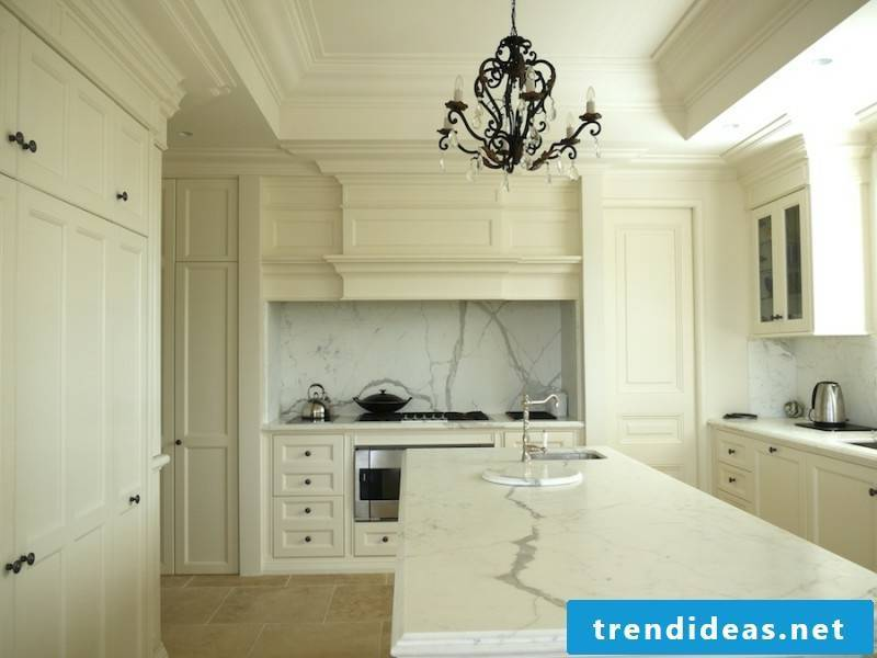 a very bright provence kitchen