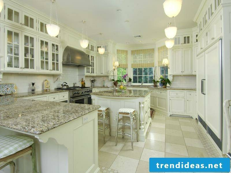greenish color in the provence kitchen