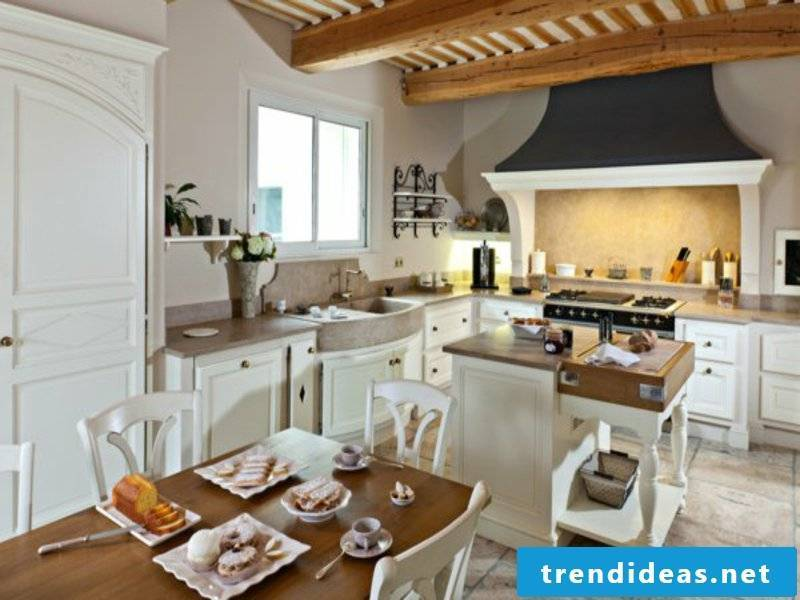 wood and white living ideas in provence kitchen