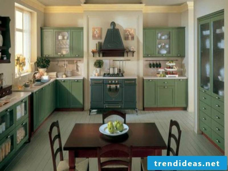 living ideas for the provence kitchen in green