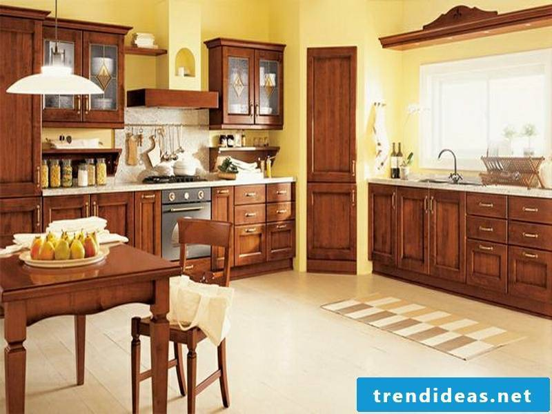 provence kitchen in yellow color