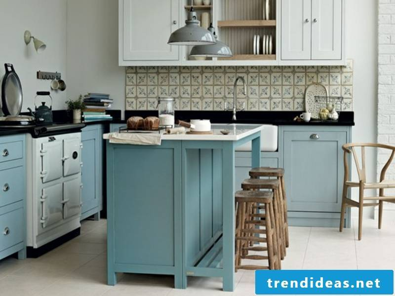 Living ideas for the blue color in the provence kitchen