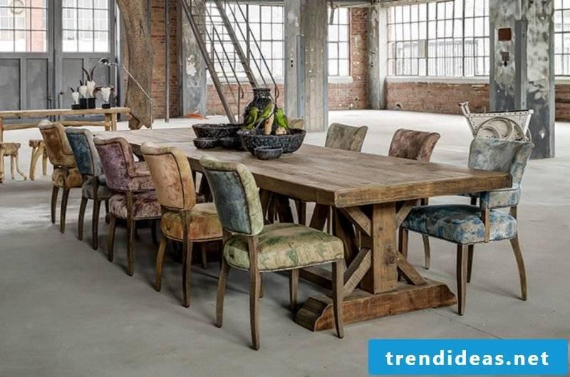 Loft furniture dining room idea
