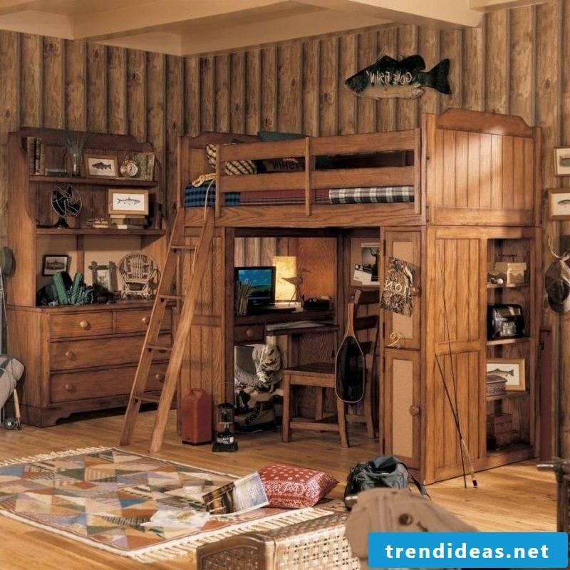 Loft furniture for children's rooms