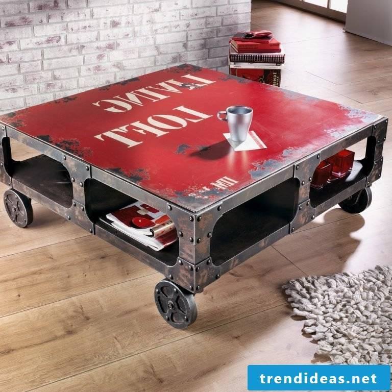 Loft furniture table design