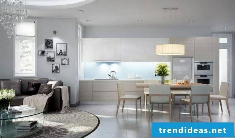 elegant kitchen in light gray