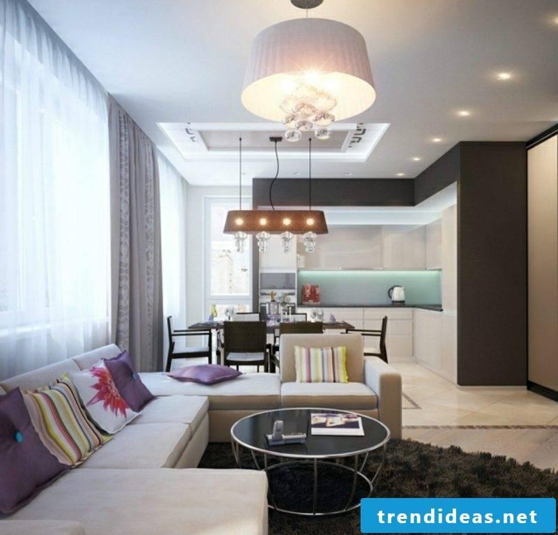 Eat-in kitchen modern furnishings comfortable sitting area
