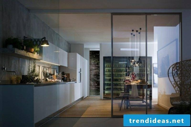 Furnishing ideas Kitchen modernly separated from the living room