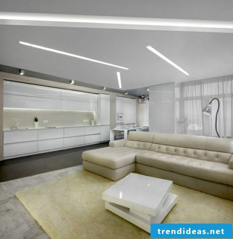 Kitchen carpet IKEA cream open kitchen modern minimalist