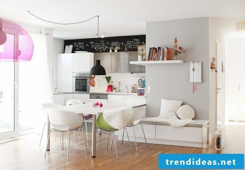 Bar counter kitchen open modern and practical