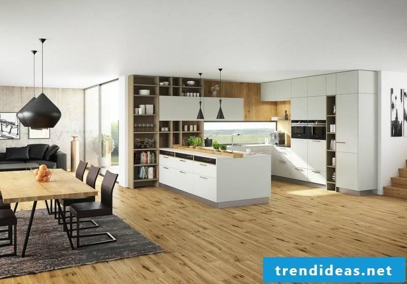 Kitchens ideas modern open kitchen with parquet floor