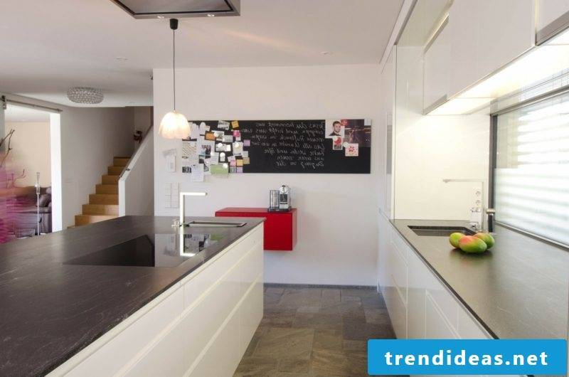 open kitchen with cooking island