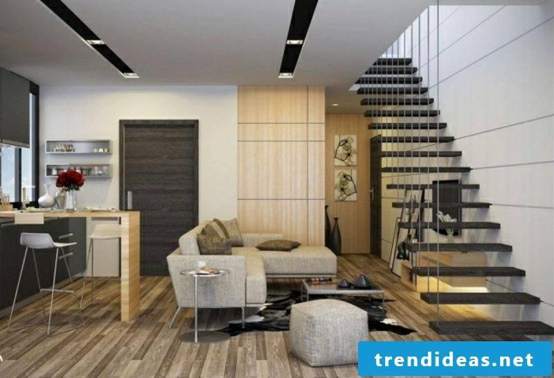 beautiful kitchens open kitchen parquet floor floating stairs