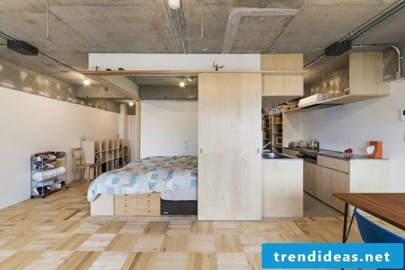 open kitchen small apartment