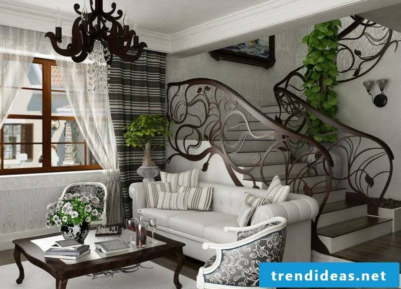 Art Nouveau features interior design