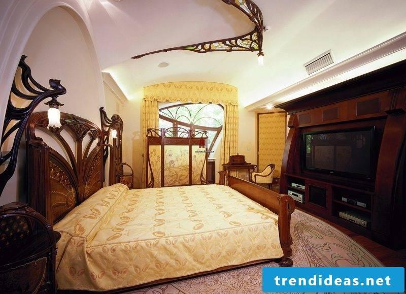 Art Nouveau features bedroom interior design
