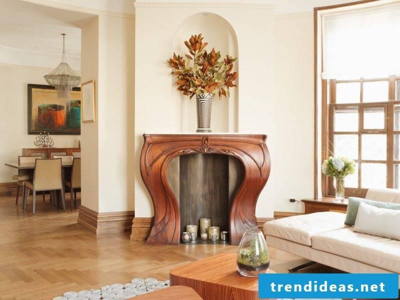 Art Nouveau features living room