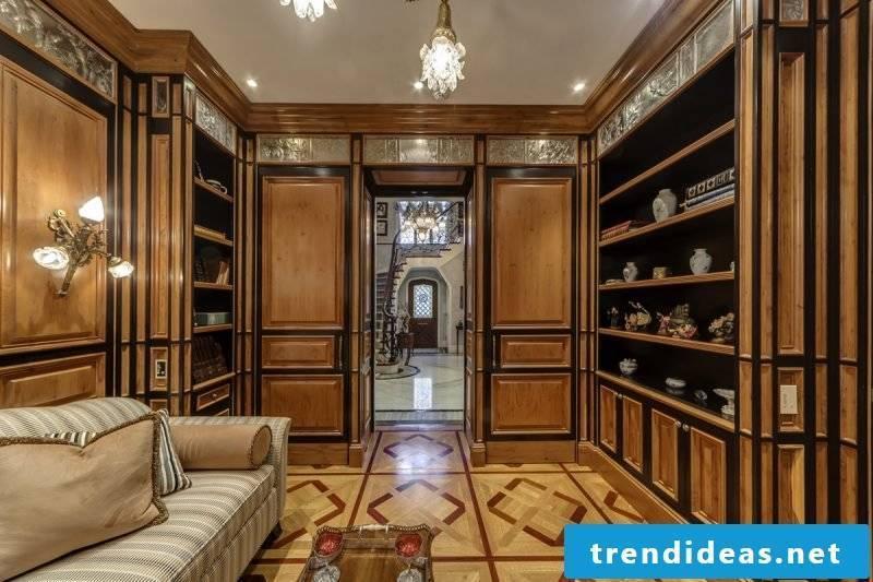 Art Nouveau features Wooden furniture