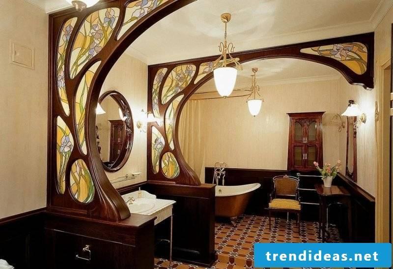 Art Nouveau features bathroom