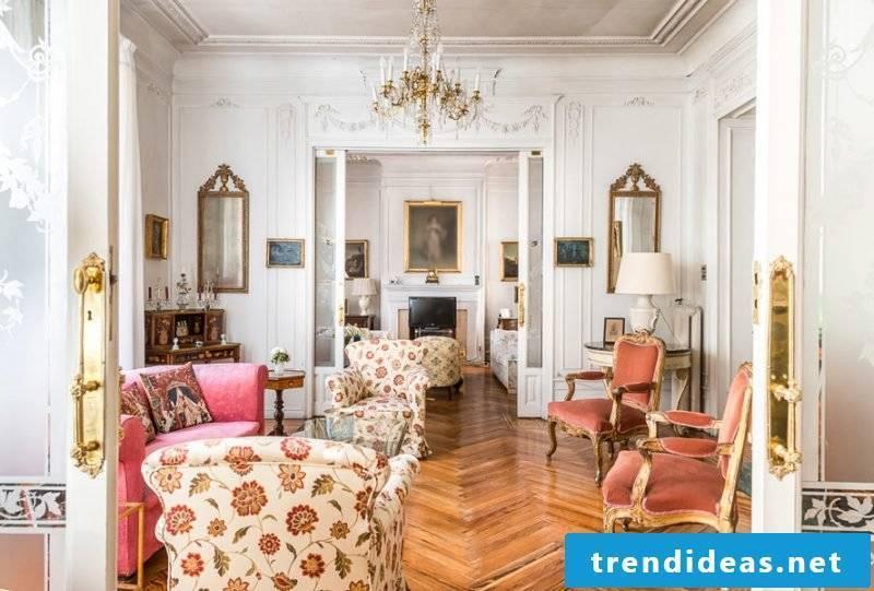 Art Nouveau features furnishings