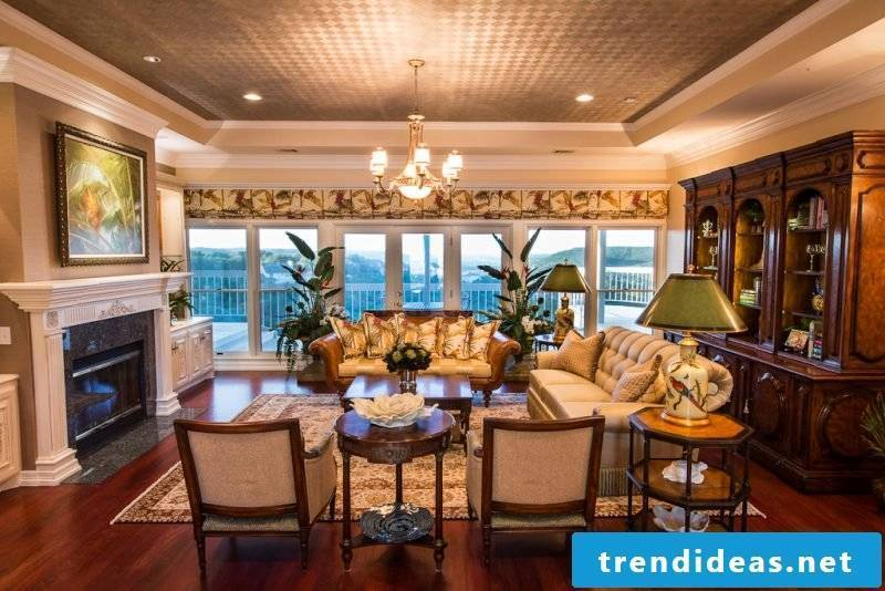 Living room design colonial ideas