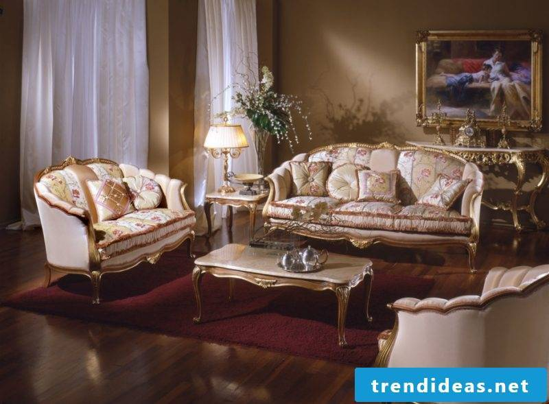 Living room design colonial style idea