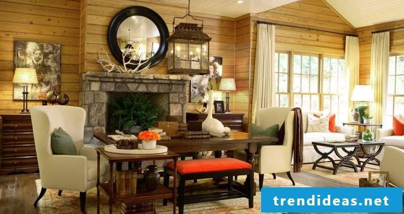 Living room design country style idea
