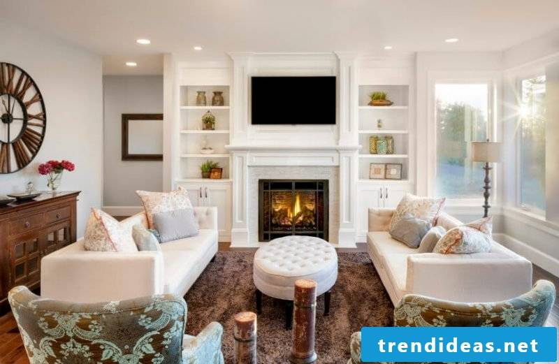 Living room design Country style Einrichtungsideen