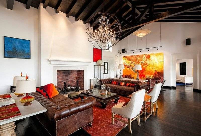 Living room design Mediterranean style
