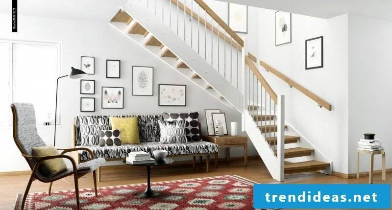 Living room design in the Scandinavian style