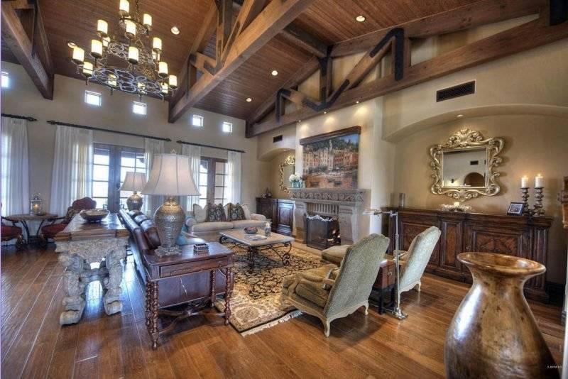 Living room design Mediterranean decor
