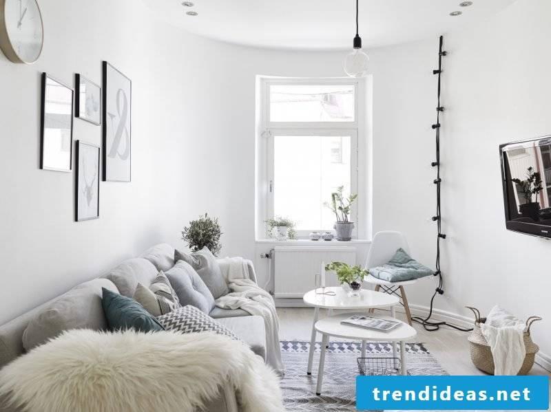 Living room design Scandinavian furniture
