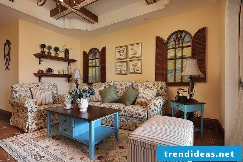 Living room design Country style furnishings