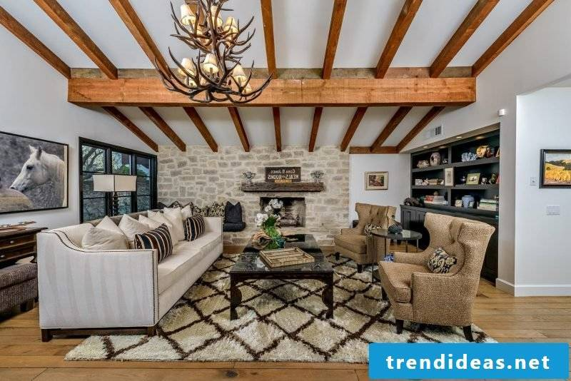 Living room design colonial style