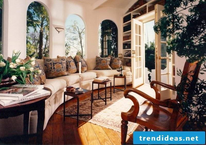 Living room design colonial style design