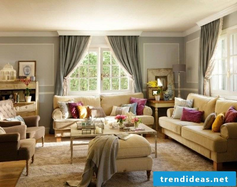 Living room design country style gorgeous look