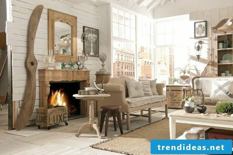 Living rooms create original design in country house style