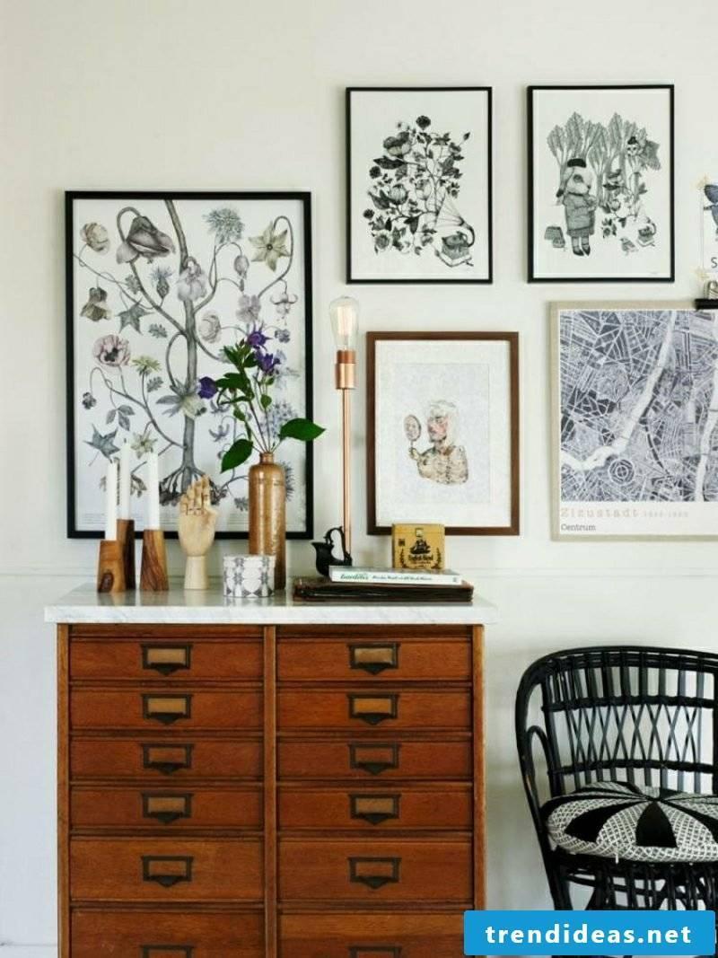 Living room design Scandinavian style deco elements images