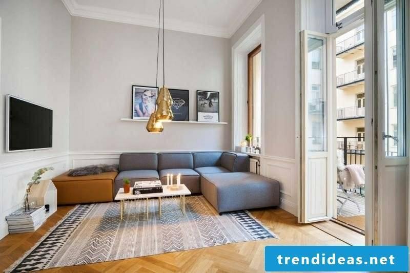 Living room design scandinavian style