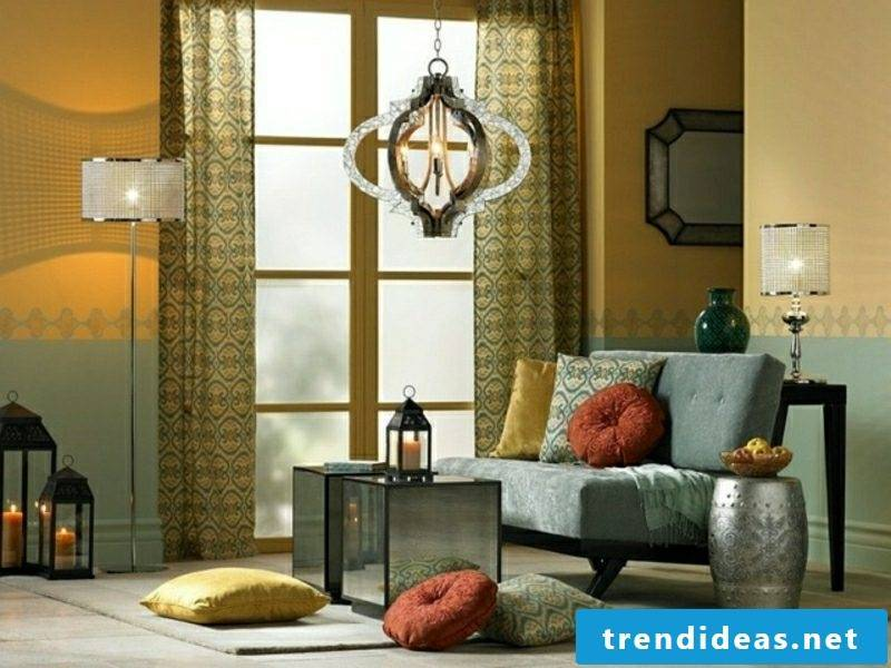 Living room Moroccan style chandelier original oriental lantern
