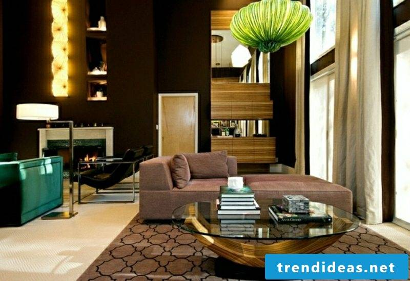 Living room designed successful combination Moroccan style modern decor