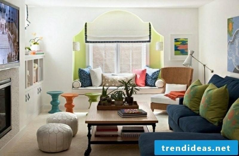 Living room design modern design accents in Moroccan style