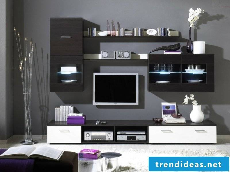 Living room inspiration and purple color