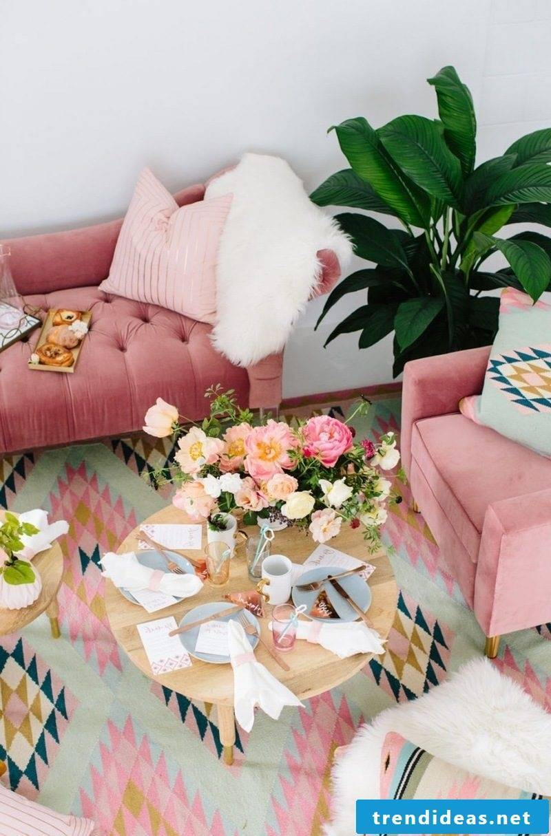 Living room Refresh to bring in spring in apartment