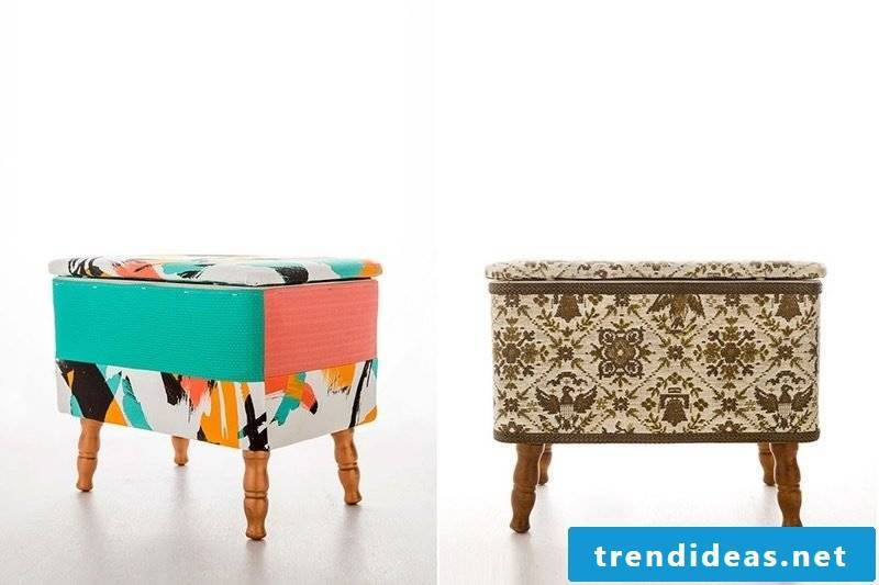 DIY decoration in the living room: make old furniture new