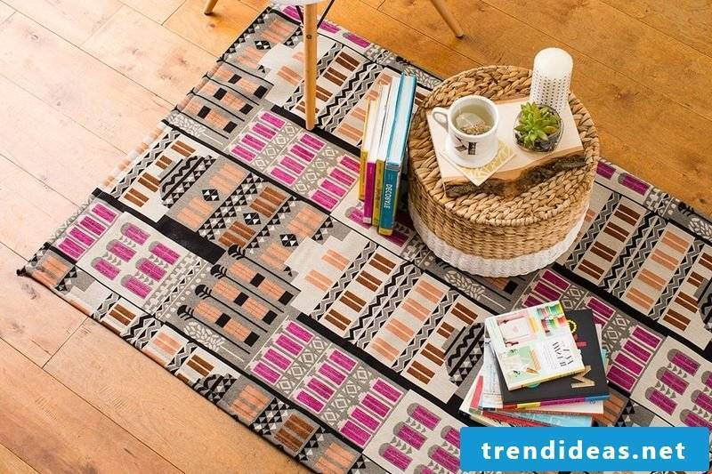 DIY decoration in the living room: making the carpet yourself