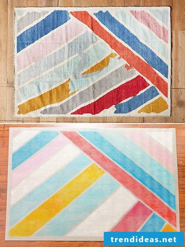 Ikea hacks for spring decoration in the living room: making the carpet yourself
