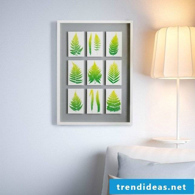 Ikea hacks for spring decoration in the living room: creative wall design