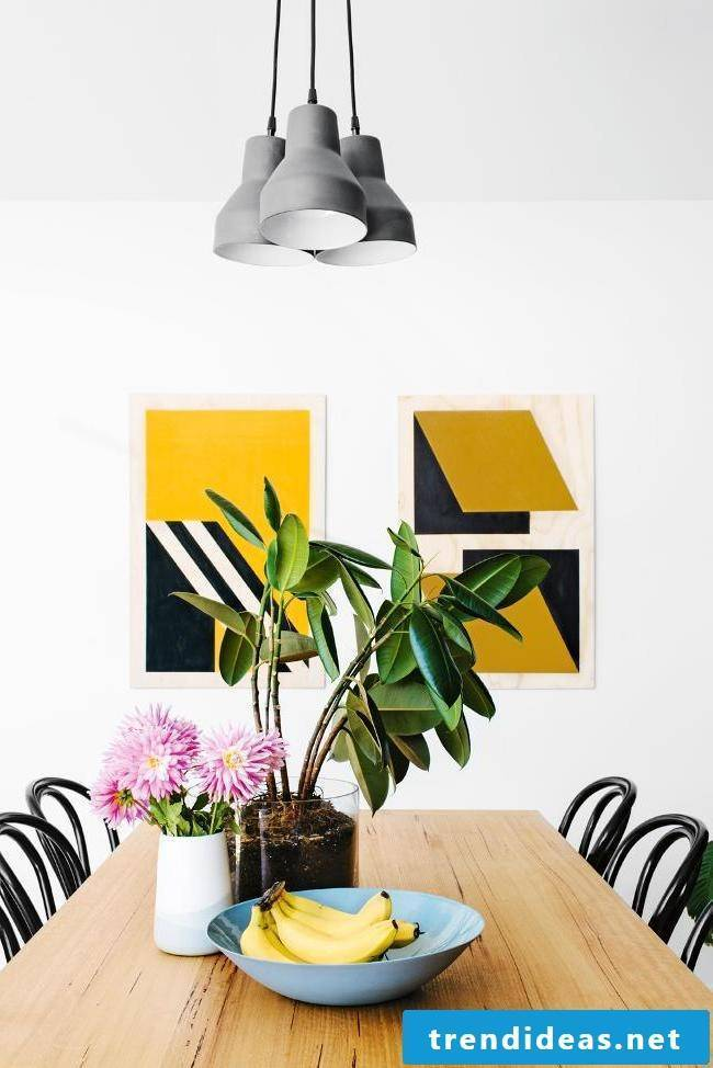 DIY decoration in the living room: creative wall design